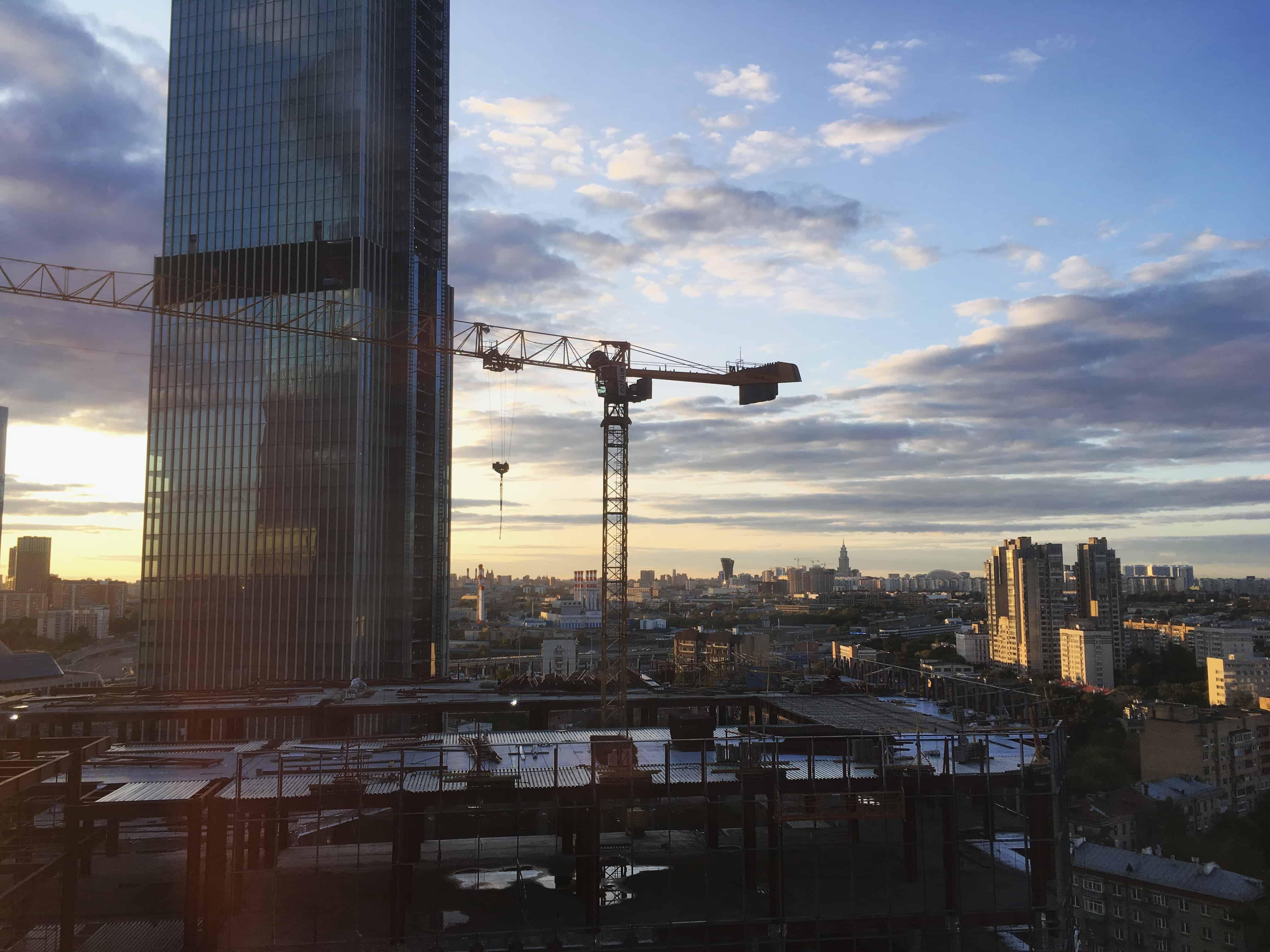 фото, вид из коворкинга в Москва-Сити